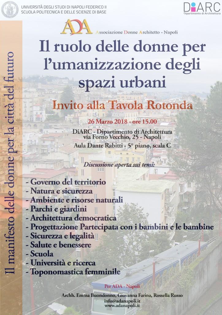 invito ADA-Napoli Marzo Donna 2018